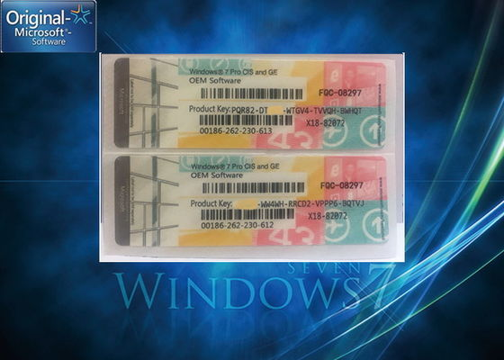 Windows 7 Professional Key ผลิตภัณฑ์ / Windows 7 Coa License Key